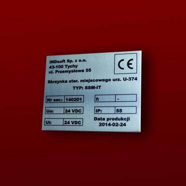 Tabiczka znamionowa 10x10cm