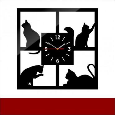 Zegar akrylowy CATS