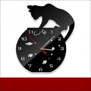 Zegar akrylowy CAT-AQUA