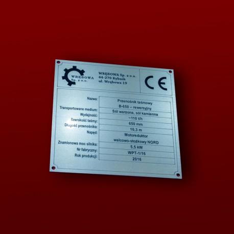 Tabiczka znamionowa 13x13cm
